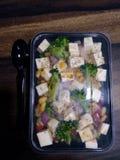 接近的沙拉被射击蔬菜 免版税库存图片