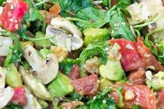 接近的沙拉被射击蔬菜 免版税图库摄影