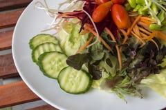 接近的沙拉被射击蔬菜 图库摄影