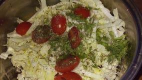 接近的沙拉被射击蔬菜 库存照片
