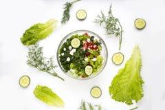 接近的沙拉被射击蔬菜 库存图片