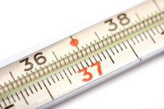 接近的温度计 免版税图库摄影