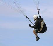 接近的滑翔伞 免版税库存照片