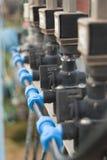 接近的灌溉系统 免版税库存图片