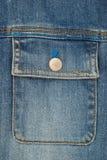 接近的牛仔裤口袋射击 免版税图库摄影