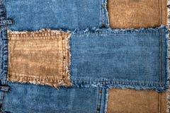 接近的牛仔裤射击纹理 免版税库存图片