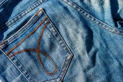接近的牛仔裤射击纹理 图库摄影