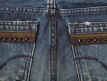 接近的牛仔裤射击纹理 免版税库存照片