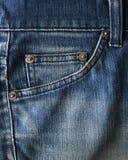 接近的牛仔裤射击纹理 库存照片