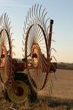 接近的犁耙上升轮子 库存照片