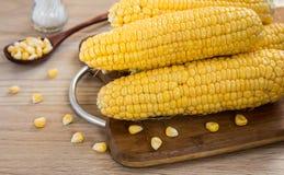接近的玉米表 免版税库存照片