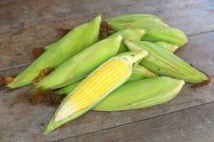 接近的玉米表 免版税图库摄影