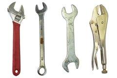 接近的现有量老生锈的被抓的工具 库存照片