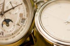 接近的瑞士手表 免版税库存照片