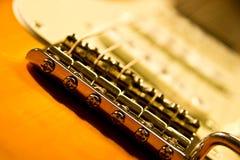 接近的电吉他 免版税库存图片