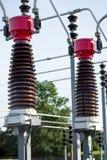 接近的电能岗位 免版税库存图片
