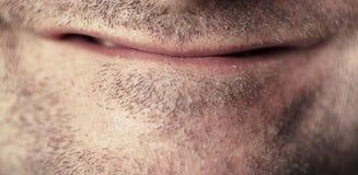 接近的男性嘴 图库摄影