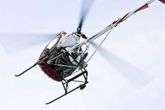 接近的直升机着陆 库存图片