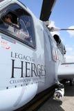 接近的直升机sikorsky  免版税库存照片