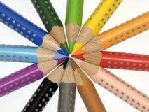 接近的着色pancils 免版税图库摄影