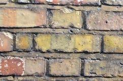 接近的砖墙 免版税库存照片
