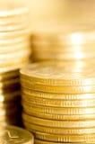 接近的硬币宏指令 免版税库存图片