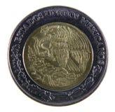接近的硬币比索 免版税库存图片