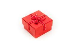 接近的红色礼物盒 库存图片