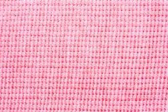 接近的织品粉红色纺织品纹理 库存照片