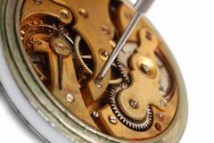 接近的老维修服务手表 免版税库存照片