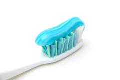 接近的胶凝体牙刷 库存图片