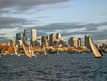 接近的航行的西雅图 免版税图库摄影