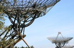 接近的荷兰无线电望远镜 图库摄影