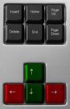 接近的计算机键盘 库存图片