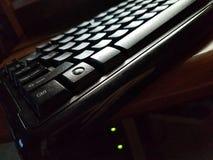 接近的计算机键盘 免版税库存照片