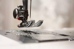 接近的设备针缝合的航天飞机  免版税库存照片