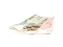 接近的货币泰国  免版税库存图片