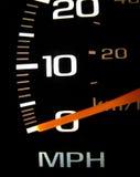 接近的车速表 免版税库存图片
