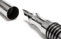 接近的钢笔视图文字 免版税库存图片