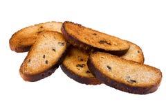 接近的面包干 库存图片