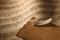 接近的音乐纸张 免版税库存图片