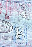 接近的页护照 库存照片