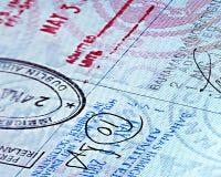 接近的页护照 库存图片