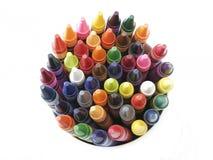 接近的颜色蜡笔 库存图片