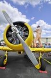 接近的飞机 库存图片