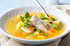 接近的鱼射击汤