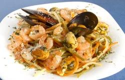 接近的marinara意大利面食 库存图片