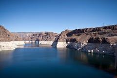 接近胡佛水坝的Colorado River湖Meade 免版税库存照片