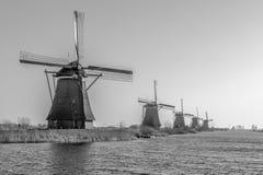 接近Rotedam荷兰的风车 免版税库存照片