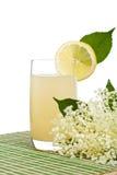 接骨木浆果调味的花汁液刷新 免版税图库摄影